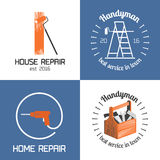 Set of home repair, house remodel vector icon, symbol, sign, logo Stock Photography