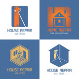 Set of home repair, house renovation vector icon, symbol Stock Image