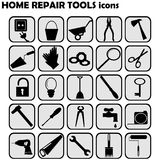Set of home repairs icons Stock Image