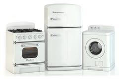 Set of home retro appliances Stock Image