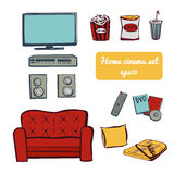 Set Home TV Stock Images
