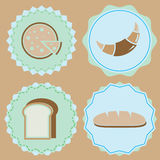 Set of homemade bakery icon color badges Stock Photos
