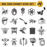 Set of honey icons Stock Image