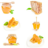 Set of Honey isolated on a white background cutout Royalty Free Stock Photos
