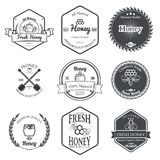 Set of Honey Labels Design Elements Vector Royalty Free Stock Photo