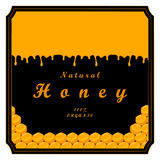 The set honey. The vector shows beehive honey nectar hive swarm winged bee honeycomb wax private apiary beekeeper beeswax.Beehive honey for beeswaxes honeycombs Stock Images