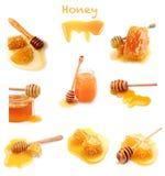 Set of honeycomb royalty free stock photo