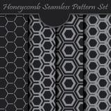 Set of honeycomb seamless pattern Royalty Free Stock Photography