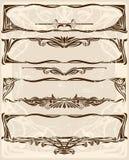 Set horizintal Felder Stockbilder
