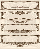 Set of horizintal frames Stock Images