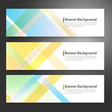Set of horizon abstract colorful banner background with copy spa. Ce stock illustration