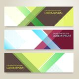 Set of horizon abstract colorful banner background with copy spa. Ce vector illustration