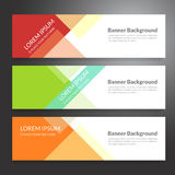 Set of horizon abstract colorful banner background with copy spa. Ce royalty free illustration
