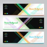 Set of horizon abstract colorful display banner background with. Copy space Stock Image