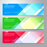 Set of horizon abstract colorful display banner background with. Copy space vector illustration