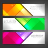 Set of horizon abstract colorful display banner background with. Copy space Stock Photo