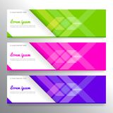 Set of horizon abstract colorful display banner background with. Copy space Royalty Free Stock Photography