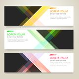 Set of horizon abstract colorful display banner background with. Copy space royalty free illustration