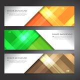 Set of horizon abstract colorful display banner background with. Copy space Stock Photos