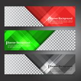 Set of horizon abstract colorful display banner background with. Copy space Stock Images