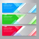 Set of horizon abstract colorful display banner background with. Copy space Royalty Free Stock Photos