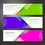 Set of horizon abstract colorful display banner background with. Copy space Stock Photography