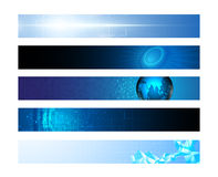 Set of 5 horizonal banner innovation hi tech concept Stock Photo