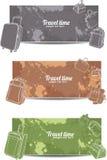 Set horizontal еravel banners stock illustration
