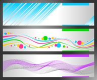 Set of horizontal abstract banners Stock Photos