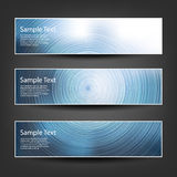 Set of Horizontal Banner or Cover Background Designs - Blue, White Colors Royalty Free Stock Image