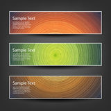 Set of Horizontal Banner or Cover Background Designs Stock Photo