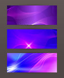 Set Horizontal banner design element background glow abstract  Royalty Free Stock Images