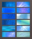 Set Horizontal banner design element background glow abstract  Stock Photo
