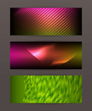 Set Horizontal banner design element background glow abstract  Stock Image