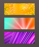 Set Horizontal banner design element background glow abstract  Stock Photography
