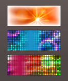 Set Horizontal banner design element background glow abstract  Stock Photo