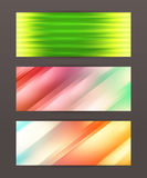 Set Horizontal banner design element background glow abstract. Design elements business presentation template. Set horizontal banners background, backdrop glow Royalty Free Stock Image