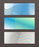 Set Horizontal banner design element background glow abstract  Royalty Free Stock Image