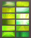Set Horizontal banner design element background glow abstract  Royalty Free Stock Photo