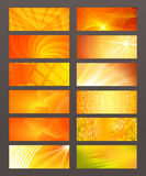 Set Horizontal banner design element background glow abstract. Design elements business presentation template. Vector illustration horizontal web banners Royalty Free Stock Images