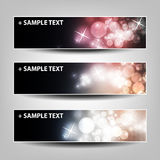 Set of Horizontal Banner or Header Background Designs Stock Photos