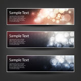 Set of Horizontal Banner or Header Background Designs - Colors: Blue, Pink, White - For Party, Christmas, New Year Holidays Stock Photo