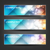 Set of Horizontal Banner or Header Designs for Christmas, New Year or Other Holidays with Colorful Checked Pattern Background Royalty Free Stock Photos