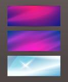 Set Horizontal banner headline abstract glow lines19 Stock Image