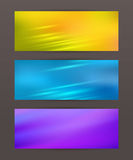Set Horizontal banner headline abstract glow lines17 Royalty Free Stock Photos