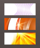 Set Horizontal banner headline abstract glow lines18 Stock Photos