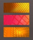 Set Horizontal banner headline abstract glow lines10. Design elements business presentation template. Vector illustration horizontal web banners background royalty free illustration