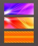 Set Horizontal banner headline abstract glow lines14. Design elements business presentation template. Vector illustration horizontal web banners background vector illustration