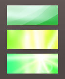 Set Horizontal banner headline abstract glow lines20. Design elements business presentation template. Vector illustration horizontal web banners background Royalty Free Stock Photo