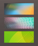 Set Horizontal banner headline abstract glow lines15 Royalty Free Stock Photo